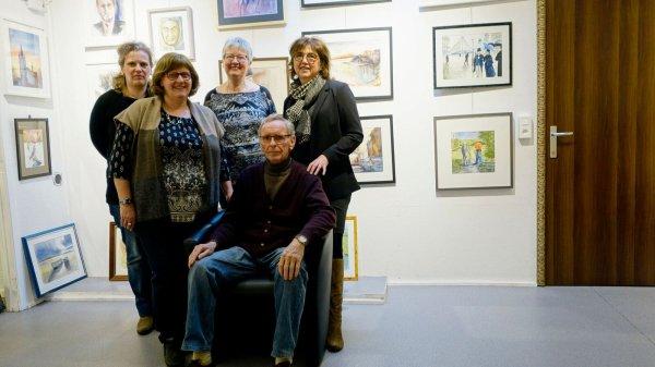 Nous exposons nos aquarelles-présence des artistes le samedi  25/03, 01/04,08/0 et 29/4