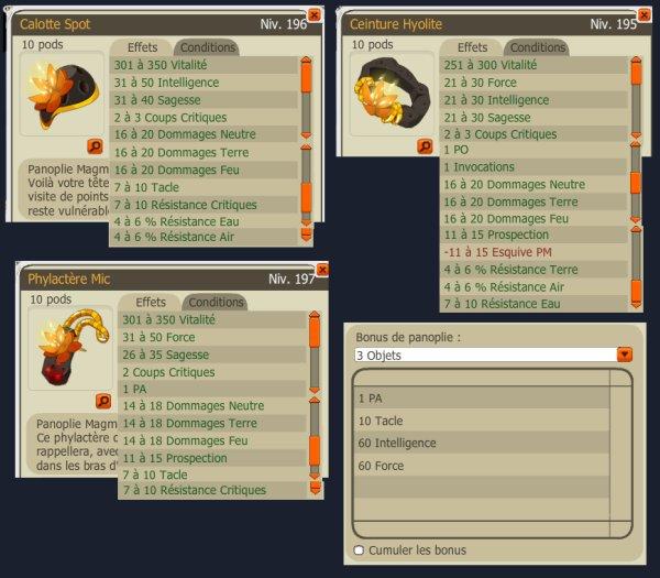Nouveaux items Vulkania ( 2.13 )