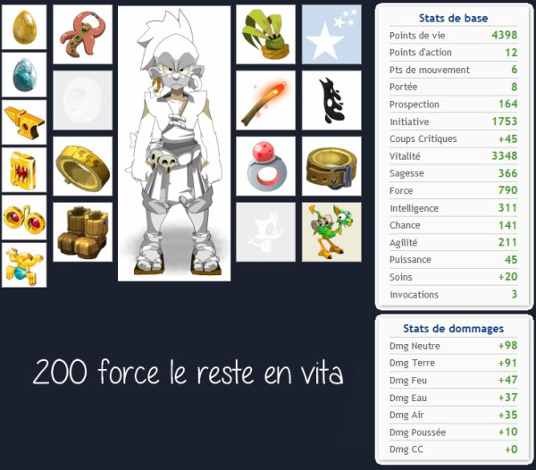 Stuff optimal en PvM pour chaque classe version 2.13 partie 1 ( stuff fri 2 )