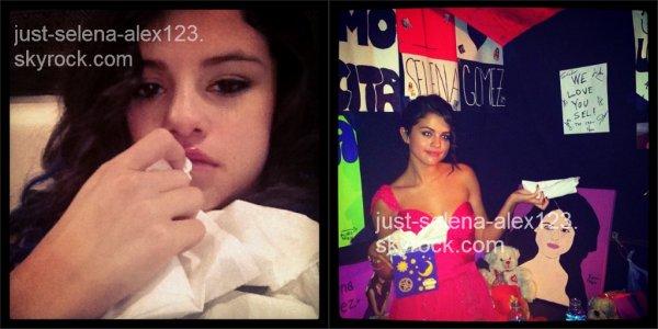 2 nouvelles photos instagram de notre Selena qui est MALADE!!!:'( On espère qu'elle ira vite mieux:)