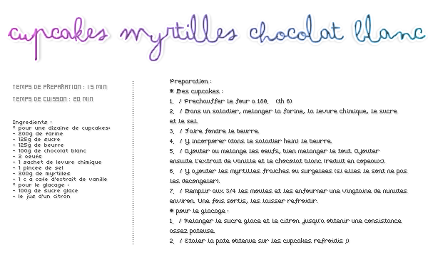 cupcake myrtille chocolat blanc