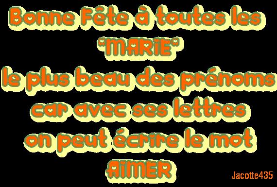 """AUJOURD'HUI 15 AOÛT Bonne FÊTE à toutes les """"MARIE"""""""