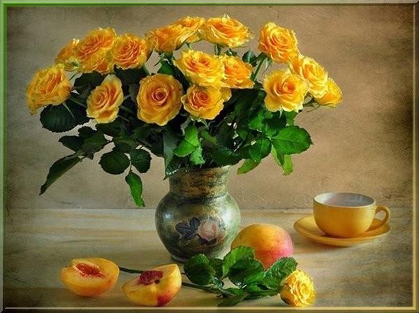 Pour MON PLAISIR et le VÔTRE ~~(^v^)~~ MES ROSES PRÉFÉRÉES ~~~~ Jaune orangé ~~(^v^)~~ LES ROSES de L'AMITIÉ ~~(^v^)~~