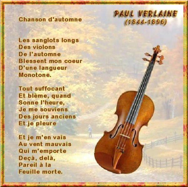 ~(^v^)~ CHARLES TRENET - CHANSON D'AUTOMNE - POÈME DE PAUL VERLAINE ~(^v^)~