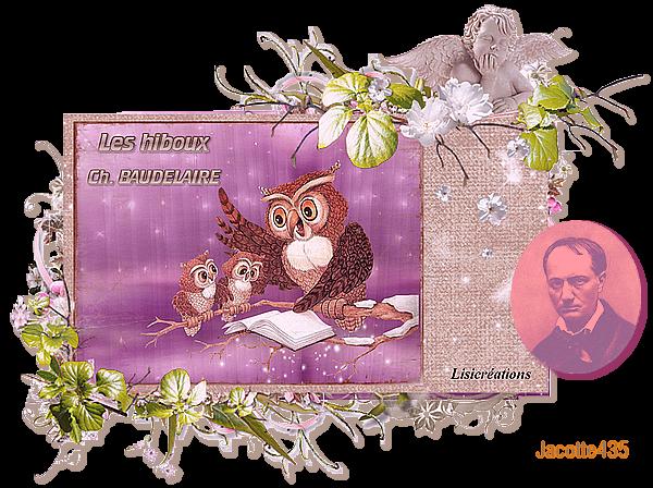 ~♥~~(^v^)~ LES HIBOUX ~(^v^)~ CHARLES BAUDELAIRE ~ Les Fleurs du Mal ~(^v^)~~♥~