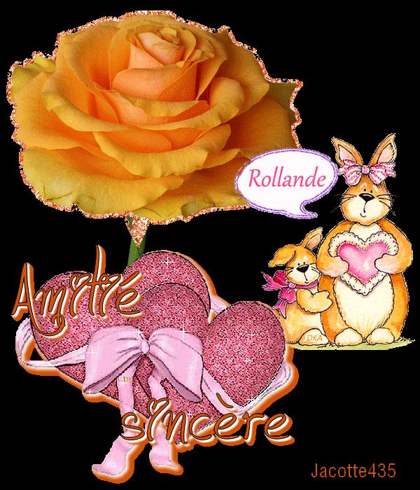 (^v^) ROLLANDE EST DE RETOUR ~♥~ la FÊTE CONTINUE ~♥~ MERCI ~♥~ DANIELE ~♥~ (^v^) ~♥~ (^v^) LISE ~♥~ MAMIETITINE ~♥~ CATH (^v^) ~♥~ (^v^)