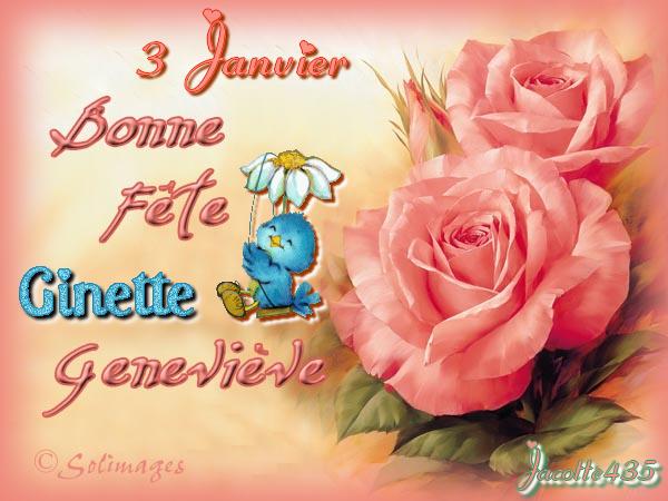 ♥♫♥ Janvier 2017 ♥♫♥ (☼♥☼) 1er de l'AN (☼♥☼) ♥♫♥ le 2 BONNE FÊTE aux BASILE ♥♫♥ ♥♫♥ (☼♥☼) le 3 aux GENEVIÈVE et GINETTE (☼♥☼) ♥♫♥