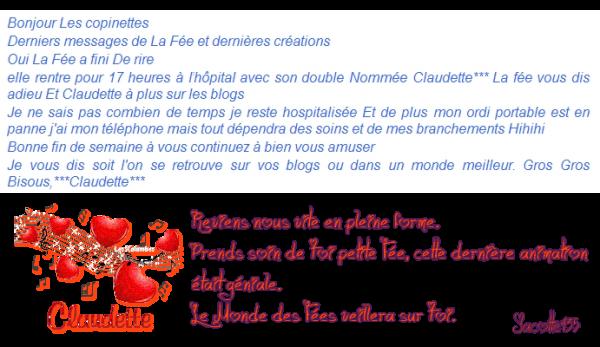 ~♥~ ♫ ☼ ♫ 1er FÉVRIER ♫ ☼ ♫ BON COURAGE ♫ ☼ ♫ PETITE FÉE ~♥~ CLAUDETTE ♫ ☼ ♫ REVIENS NOUS VITE ♫ ☼ ♫ ~♥~