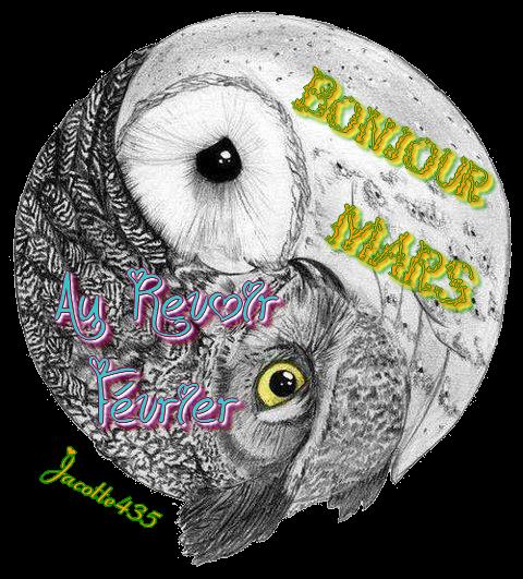 ~♥~ (☼♥☼) ♫ 1er MARS ♫ (☼♥☼) AU REVOIR FÉVRIER ♫ ☼ ♫ BONJOUR MARS (☼♥☼) ♫ ☼ ♫ ~♥~ MERCI CATH ♫ ☼ ♫ MERCI SONNETTE ♫ (☼♥☼) ~♥~