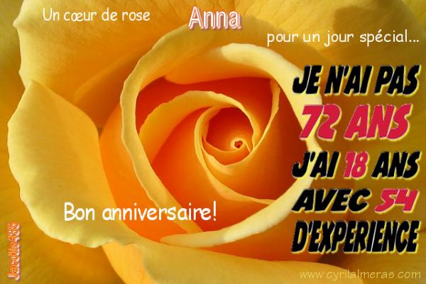 ♫ ☼ ♫ ☼ 19 MARS ☼ ♫ ☼ ♫ 72 ANS ♫ ☼ ♫ ☼ BON ANNIVERSAIRE ♫ ☼ ♫ ANNA ☼ ♫ ☼ ♫ ♫ ☼ ♫ http://rose1945.skyrock.com/ ♫ ☼ ♫