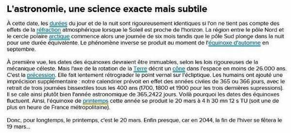 ~♥~ ♫ ☼ ♫ 20 MARS ♫ ☼ ♫ (☼♥☼) ♫ ☼ ♫ INFOS sur la date du PRINTEMPS ♫ ☼ ♫ ~♥~ http://www.futura-sciences.com/