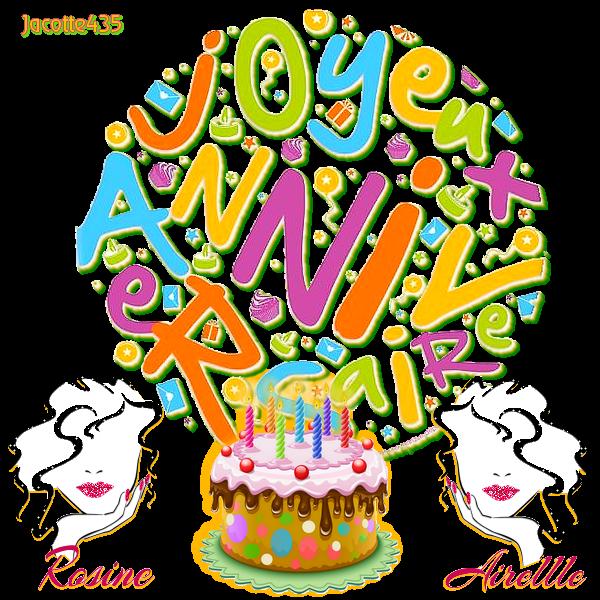 ~(☼♥☼)~ ♫ 02 AVRIL ☼ ♫ B0N ANNIVERSAIRE ♫ ☼ COPINETTE ~♥~ ROSINE ♫ ~(☼♥☼)~