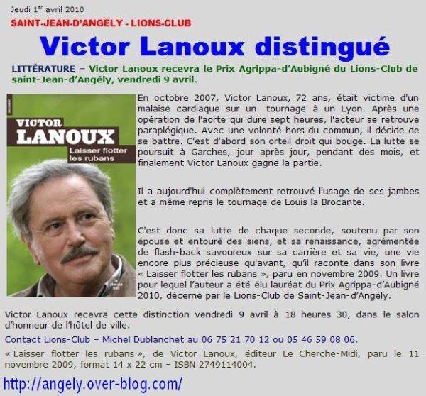 ~♥**♥~ BIOGRAPHIES ~♥**♥~ VICTOR LANOUX ~♥**♥~ PRIX AGRIPA D'AUBIGNÉ ~♥**♥~ 2010 ~♥**♥~ PRIX DU COURAGE ~♥**♥~
