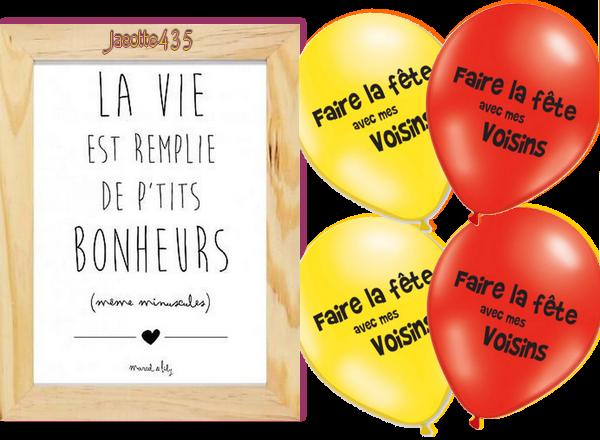 ~♥~ ♫ ☼ MANIFESTATION ☼ ♫ 19 MAI ☼ ♫ BONNE FÊTE ♫ ☼ DES VOISINS ☼ ♫ ~♥~