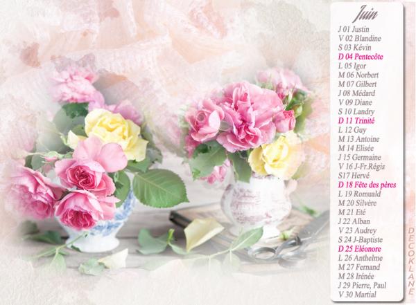 (☼♥☼) ♥♫♥ AU REVOIR MAI ~♥~ BONJOUR JUIN ♥♫♥ ~♥~ CALENDRIER CATH ~♥~ JUIN ~♥~ ~♥~ POÉSIE SISSI ~♥~ ♥♫♥ (☼♥☼)