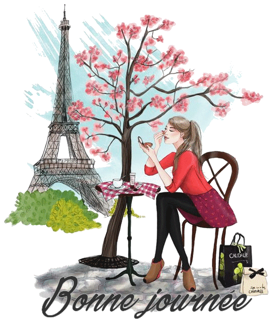 (☼♥☼) CRÉATION de mon NOUVEL ARRIÈRE-PLAN  ~♥~ TOUR EIFFEL ~♥~ VISITES de MARLÈNE et ROSIE (☼♥☼)