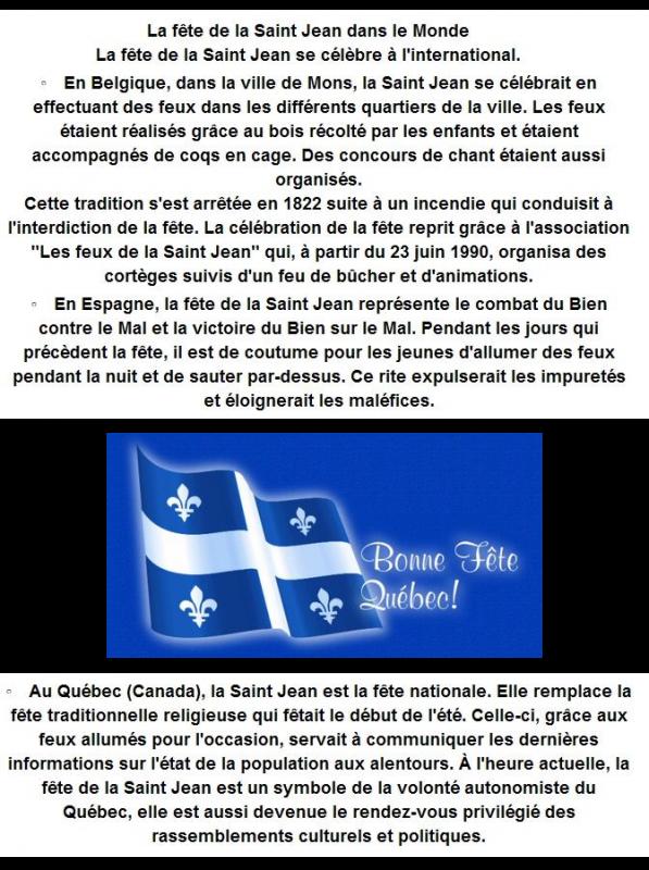 ~♥~ ♫ ☼ 24 JUIN ~♥~ St JEAN-BAPTISTE ~♥~ FÊTE et FEUX ~♥~ de la St JEAN ☼ ♫ ~♥~
