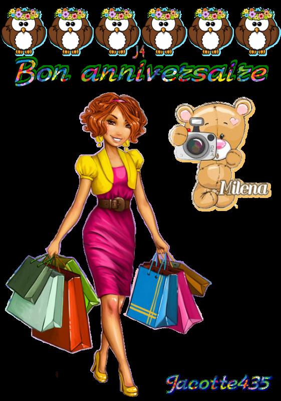 ~♥~ ♫ ☼ 2 JUILLET ☼ ♫ BON ANNIVERSAIRE ♫ ☼ MILENA ma BELLE-FILE de PARIS ☼ ♫  ♫ ☼ 44 ANS ☼ ♫ ~♥~