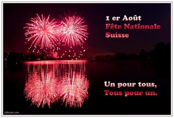 ~♥~ ☼ ♫ ☼ 1er AOÛT ☼ ♫ ☼ FÊTE NATIONALE SUISSE ☼ ♫ ☼ ~♥~