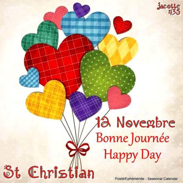 ♥♫♥ ♥ 12 NOVEMBRE ♥ SAINT CHRISTIAN ♥ BONNE FÊTE ♥ POUR TOI MON CHRIS  ♥ ♥♫♥  ♥♫♥ http://chris75113.skyrock.com/ ♥♫♥