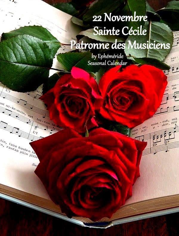 ♥♫♥ 22 NOVEMBRE ♥ Ste CÉCILE ♥♫♥ PATRONNE des MUSICIENS ♥♫♥ EN ATTENDANT NOËL ♥♫♥ RÉVISONS LES CLASSIQUES ♥♫♥