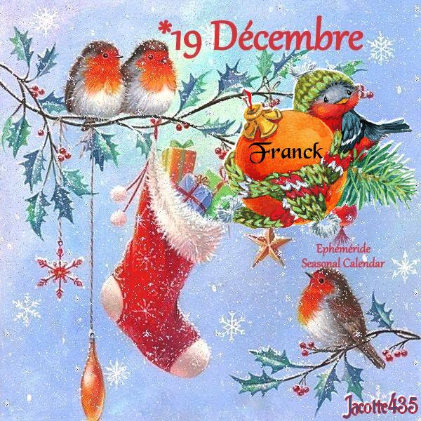 (☼♥☼) ♥♫♥ 19 DÉCEMBRE ♥♫♥ CALENDRIER DE L'AVENT ~♥~ St URBAIN ♥♫♥ (☼♥☼)