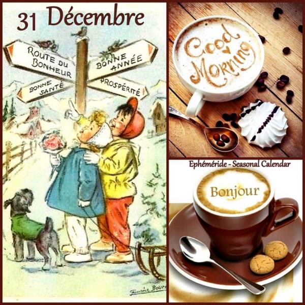 ♥♫♥ 31 DÉCEMBRE ~♥~ St SYLVESTRE ~♥~ BONNE JOURNÉE ♥ RESTEZ AU CHAUD ♥♫♥