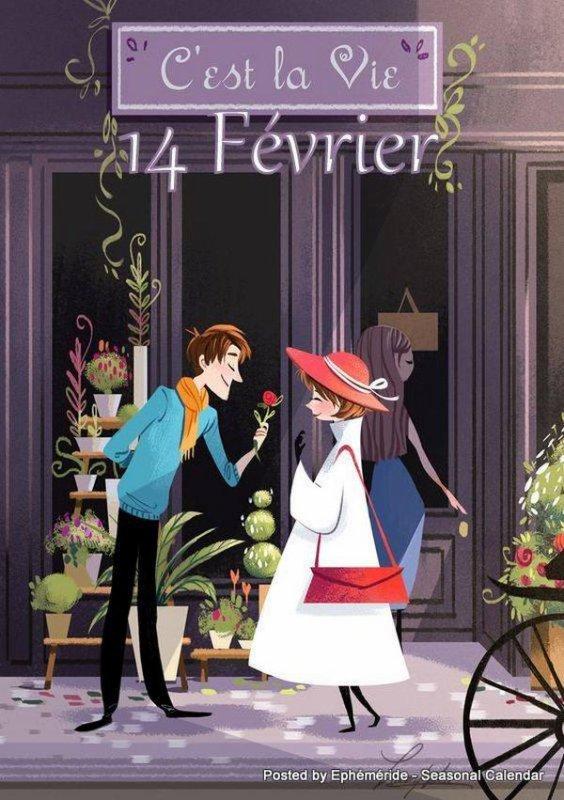 ♥♫♥ 14 FÉVRIER ~♥~ St VALENTIN ~♥~ BONNE FÊTE  ~♥~ A TOUS LES AMOUREUX ♥♫♥