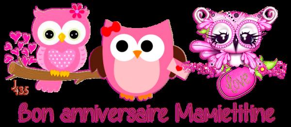 ♥♫♥ 26 FÉVRIER ~♥~ EN RETARD DÉSOLÉE ~♥~ BON ANNIVERSAIRE MAMIETITINE ♥♫♥ ♥♫♥ MERCI POUR TON CADEAU ♥♫♥ http://mamietitine.centerblog.net/ ♥♫♥