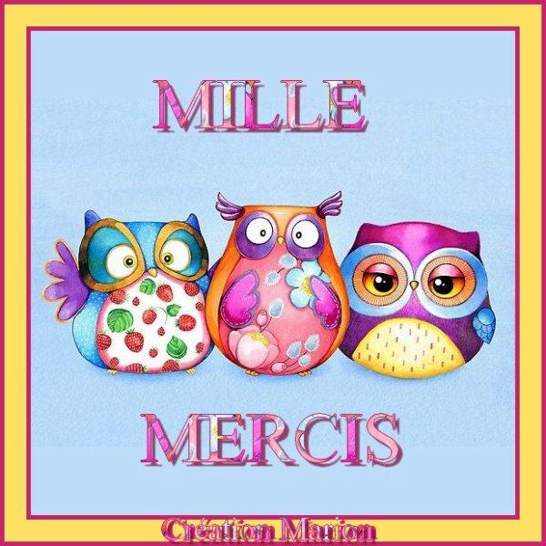 ♥♫♥ MERCI JOSIE (☼♥☼) POUR CES CHOUETTES (☼♥☼) POUR MON ANNIVERSAIRE ♥♫♥ ♥♫♥ 05 MARS ♥♫♥ http://josie2arles.skyrock.com/ ♥♫♥