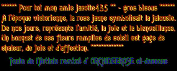 ~♥~ ☼ ♫ ☼  LANGAGE DES FLEURS ♥ ♫ ♥ ROSE JAUNE ♥ ♫ ♥ MERCI MARIETTE ☼ ♫ ☼ ~♥~