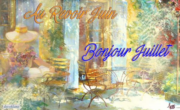 ☼ AU REVOIR JUIN ☼ BONJOUR JUILLET ☼ ~♥~ CALENDRIER CATH ~♥~ JUILLET ☼