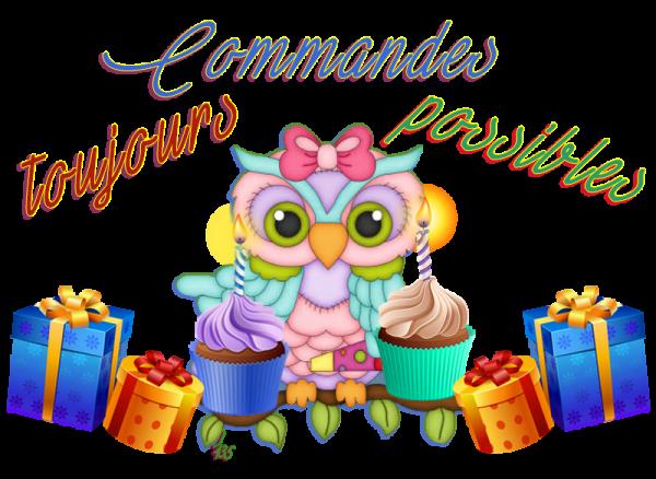 ♫ ♥ COMMANDES ♥ ♫ TOUJOURS POSSIBLES ♥ ♫ le 26 JUILLET ♫ ♥ 2 ANS de BLOG ♥ ♫
