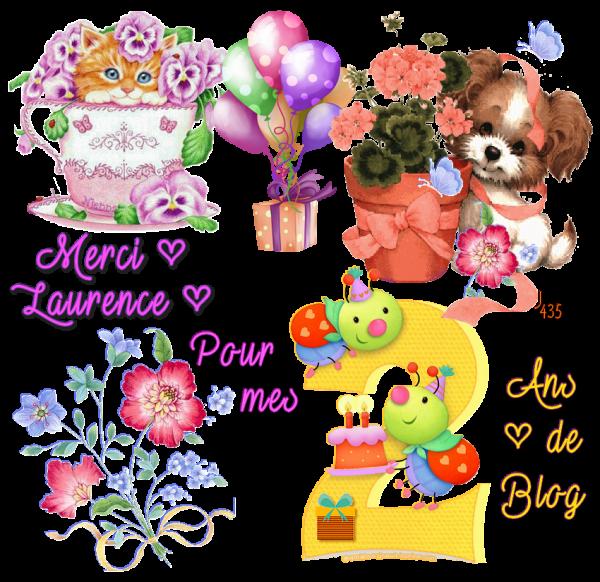 ♥ ♫ 26 JUILLET ♫ ♥ 2 ANS DE BLOG ♥ ♫ MERCI POUR TES CADEAUX ♫ ♥ LAURENCE ♥ ♫  ~♥~ http://savoir-aimer59.skyrock.com/ ~♥~