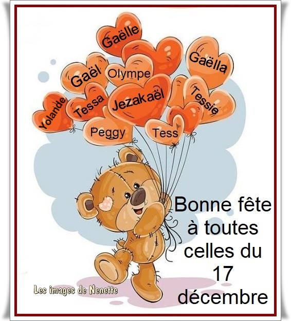 ★ * ☆ ♥♫♥ 17 DÉCEMBRE ☆ ♥♫♥ ☆ CALENDRIER DE L'AVENT ~♥~ St GAËL ♥♫♥ ☆ * ★