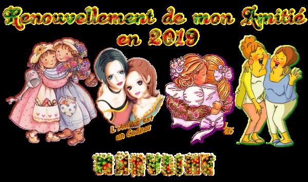 ★ * ☆ * RENOUVELONS ~♥~ L'AMITIÉ ~♥ EN 2019 ♥~ SIGNATURES A LA DEMANDE * ☆ * ★ ~♥~ M ☆ 05 ~♥~