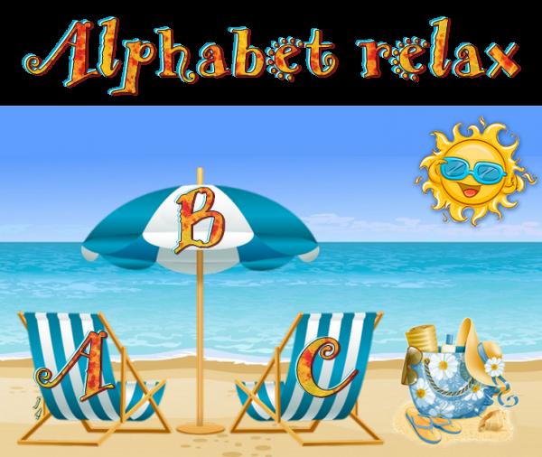 ✿ﻼღ♥ღ AOÛT ☼ ALPHABET RELAX ☼ ÉTÉ ☼ LETTRES A à G ✿ﻼღ♥ღ ~☼ 1_5 ☼~