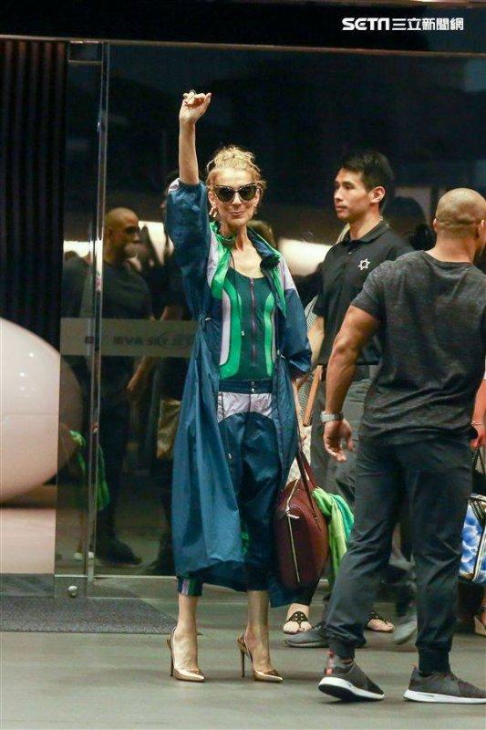 Céline Dion est arrivée à Taipei le 8 juillet.