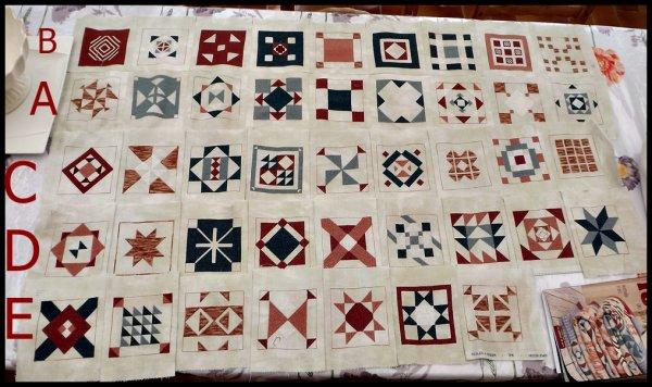 tous les 108 carrés sont finis en broderie reste le montage !