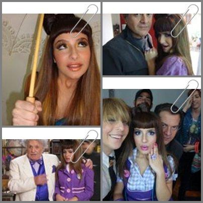 """Divers  J'ai trouvé des photos de Brenda sur le tournage de """"Mia,mon ami invisible"""" avec une coiffure a noeud(que j'ai adoré) Sa lui va?Vous aimez cette coiffure?"""