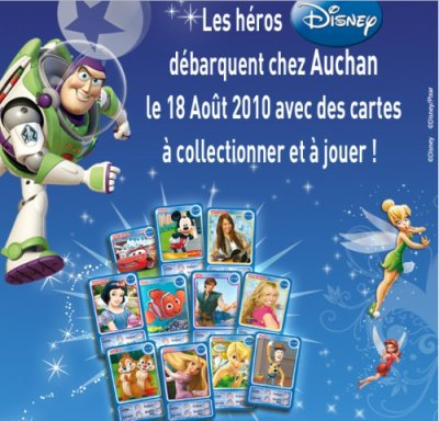 CARTES DISNEY AUCHAN