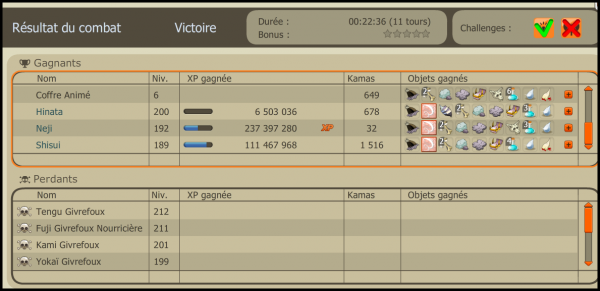 Article 31 : Resultat du premier week-end double xp / drop