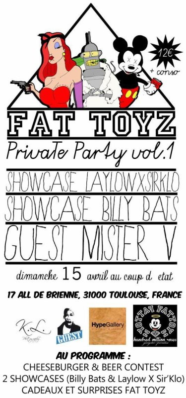 Soirée Fat Toyz , Mister V en guest