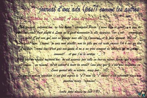 """Luna + escalade=...2   """"Journal d'une ado (pas?) comme les autres"""""""