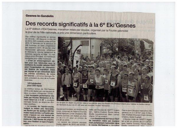 EKI'GESNES 2016 : QUAND LA PRESSE EN PARLE
