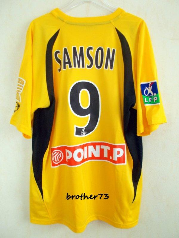 maillot stephane samson  stade malherbe de caen coupe de la ligue saison 2007-2008
