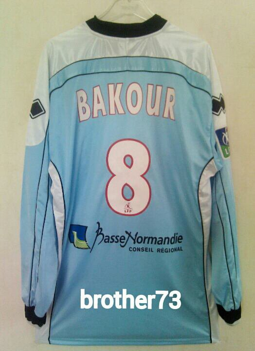 Maillot stade malherbe de caen de salah bakour saison 2004-2005