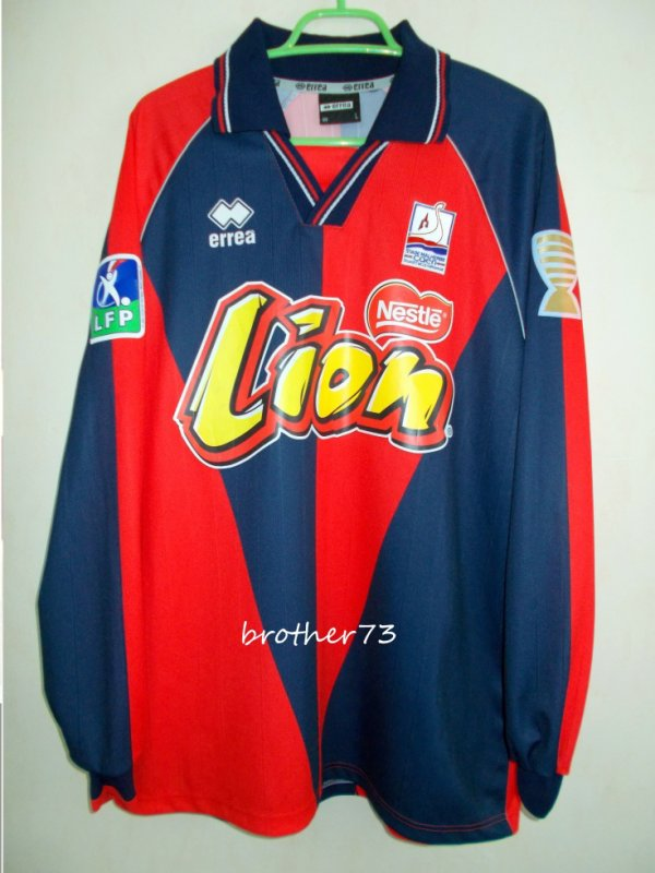 maillot benoit lesoimier stade malherbe de caen coupe de la ligue saison 2004-2005