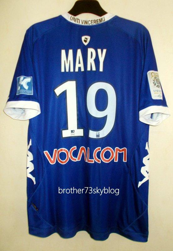 maillot sporting club de bastia maka MARY saison 2012-2013