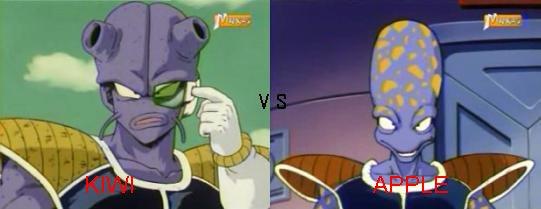 Sondage n°2 : Kiwi vs Apple ( Dragon ball z )